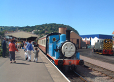 Thomas the Tank engib=ne visiting West Somerset Railway at Minehead